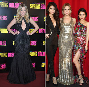 Ashley Benson's Spring Breakers Premiere Fashion: Black and Gold (PHOTOS)