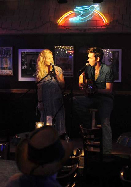 Clare Bowen Makes Surprise Appearance at Sam Palladio's Concert!