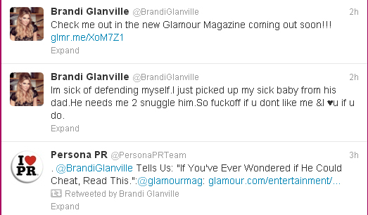 "Brandi Glanville Sick of Defending Herself: ""So F**k Off If You Don't Like Me"""