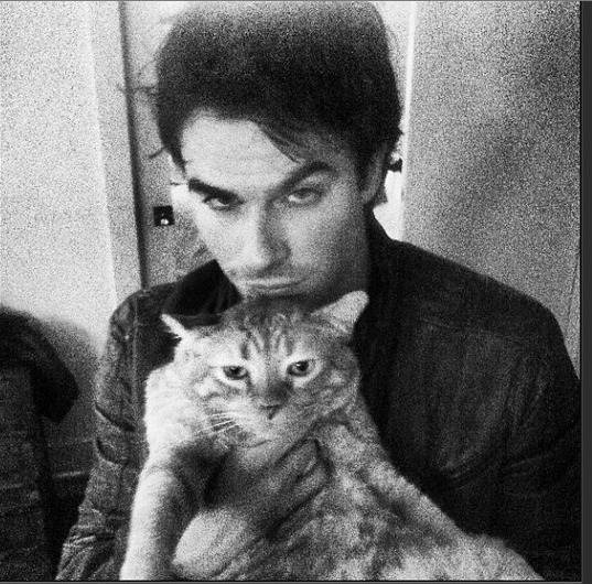 Ian Somerhalder's Spirit Guide Is His Cat (PHOTO)