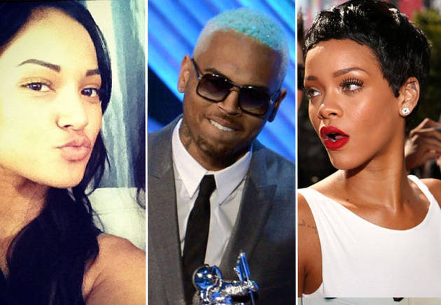 Chris Brown in Houston With Ex While Rihanna's Away: Report