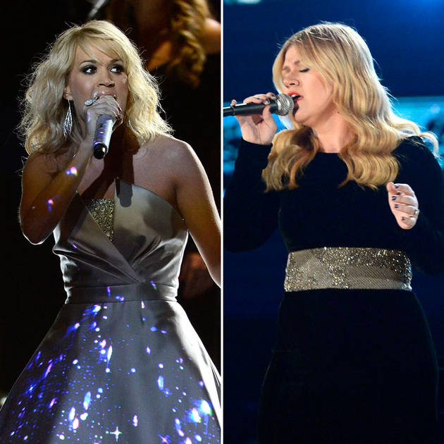 American Idol Winners Kelly Clarkson & Carrie Underwood Win Again at the 2013 Grammys!