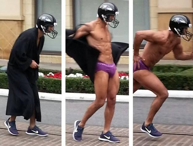 Mario Lopez Runs Around in Purple Underwear After Losing Super Bowl Bet (PHOTO and VIDEO)