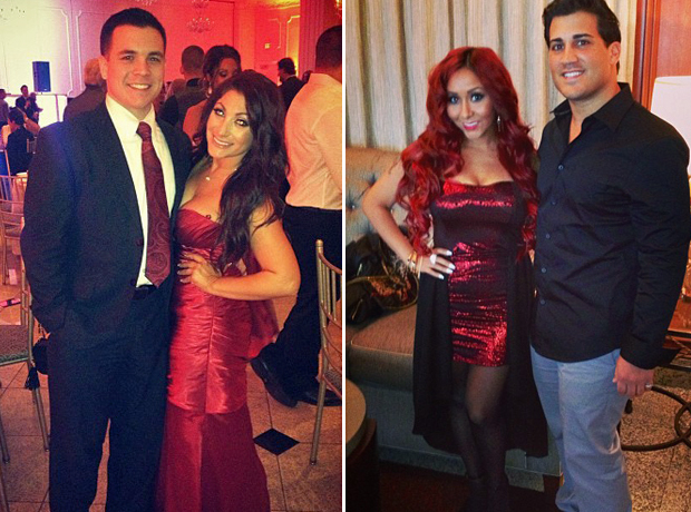Deena and Chris vs. Snooki and Jionni: Which Jersey Shore Couple Is Cuter? (PHOTOS)