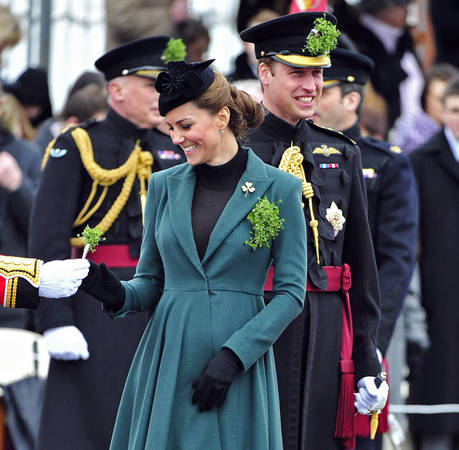 Pregnant Kate Middleton and Prince William Celebrate St. Patrick's Day
