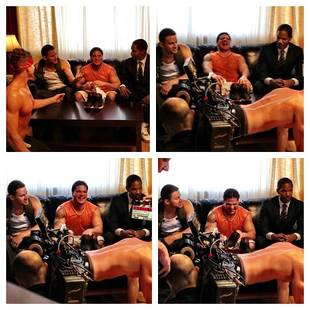 Ronnie Laughs With Channing Tatum and Jamie Foxx in White House Down Promo (PHOTO)