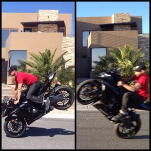 Pauly D Performs Dangerous Motorcycle Stunt Without a Helmet! (PHOTO)