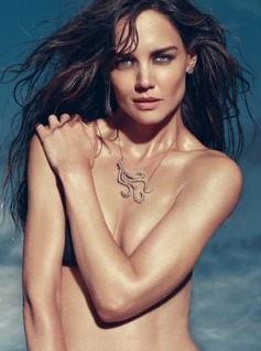 Katie Holmes Poses Topless in Sexy Jewelry Ads! (PHOTO)