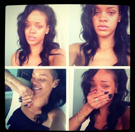 Rihanna Without Makeup: Still Hot! (PHOTO)