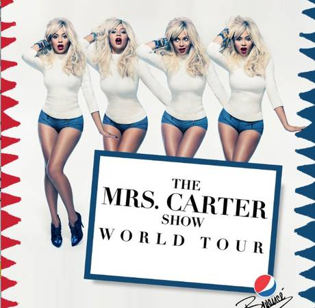 Beyonce Goes Blonde For Mrs. Carter Tour Poster — Like It? (PHOTO)