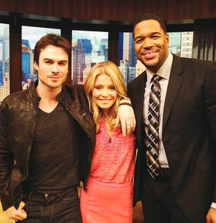 Ian Somerhalder on Live With Kelly and Michael on March 13, 2013