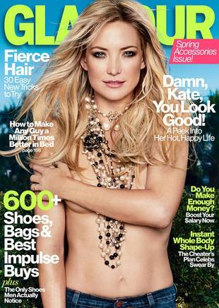 Kate Hudson Goes Topless on the Cover of Glamour (PHOTO)