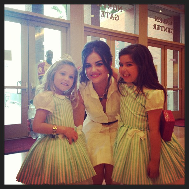 Pretty Little Liars Star Lucy Hale Meets Sophia Grace and Rosie! (PHOTO)