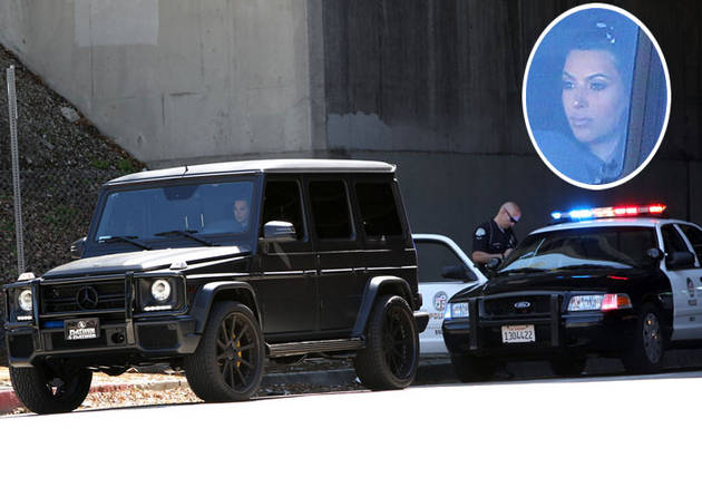 Pregnant Kim Kardashian Stopped By Police — But Gets Off Easy? (UPDATE)