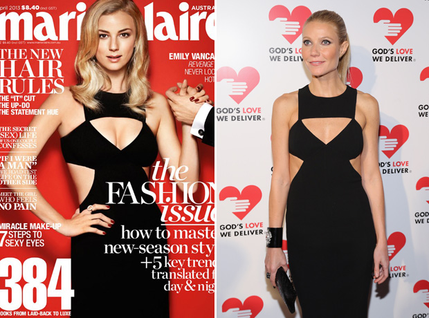 Emily VanCamp vs. Gwyneth Paltrow: Who Wore the Black Cutout Dress Best? (PHOTOS)