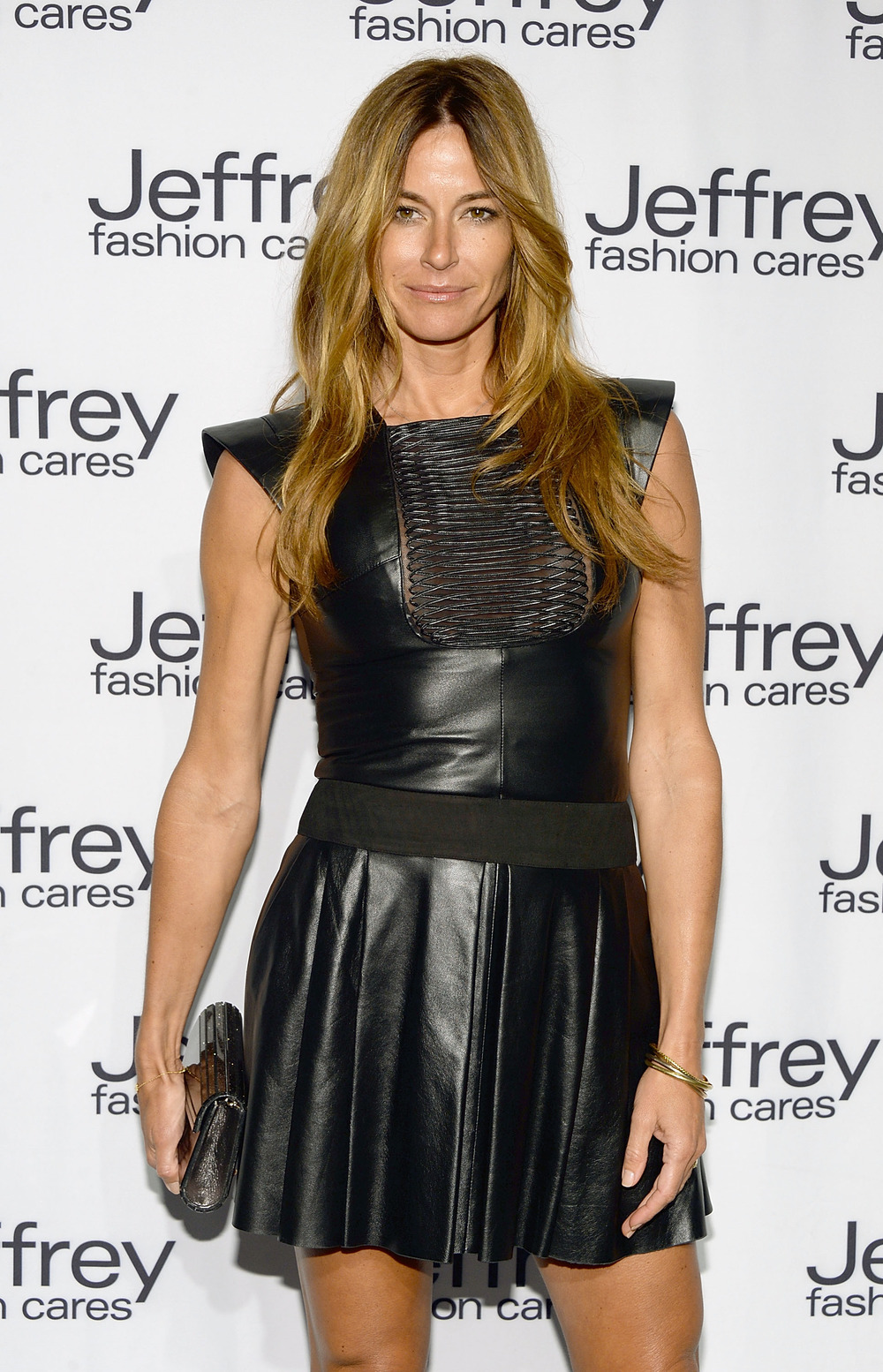 Real Housewives of New York Star Kelly Bensimon Rocks Tight Leather Dress in NYC (PHOTOS)