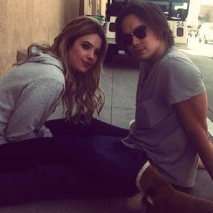 Pretty Little Liars Stars Ashley Benson and Tyler Blackburn Take Cute Haleb Pic (PHOTO)
