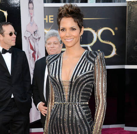 Pregnant Halle Berry Cradles Baby Bump at Film Premiere