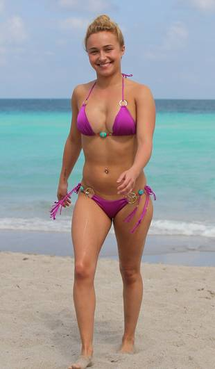 Hayden Panettiere Wears Tiny Bikini, New Diamond Ring in Miami