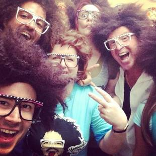 Vinny and His Family Are Nearly Unrecognizable Dressed as LMFAO's RedFoo! (PHOTO)