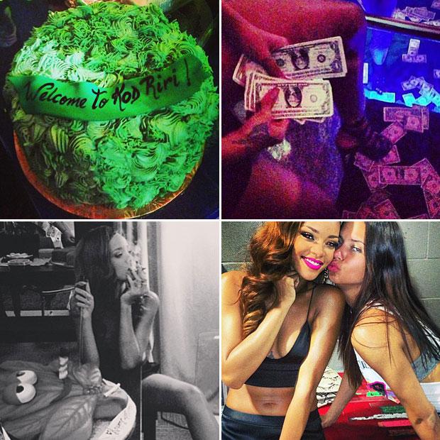 Rihanna Celebrates 4/20 With Cake, Bikini, Strip Club