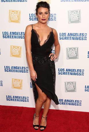 Lea Michele Debuts Dark, Sexy Look at Fox's Screenings Party (PICS)