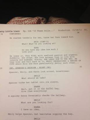 Aria and Ezra's First Time — Read the Sexy Script! (PHOTO)