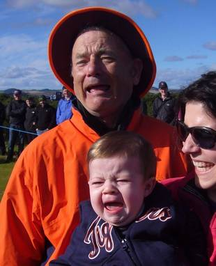 You Have To See Bill Murray's Fantastic Reaction To a Crying Baby (PHOTO)