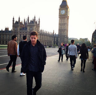 Jef Holm Visits London — Is He Reminiscing About Emily?