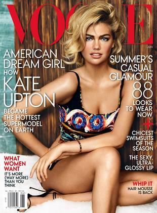 """Kate Upton Covers Vogue, Defends Sexy Curves: """"I Can't Change My Bra Size"""""""