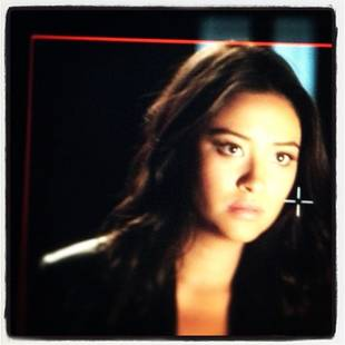 Pretty Little Liars Star Shay Mitchell Watches WHAT Between Takes? (PHOTO)