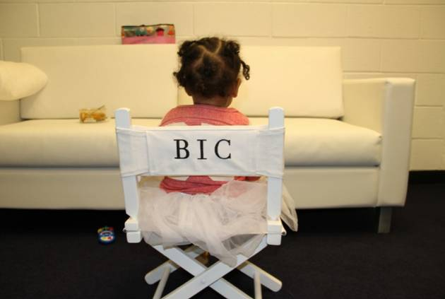 Beyonce's Daughter Blue Ivy Takes a Front Row Seat in Show Biz (PHOTO)