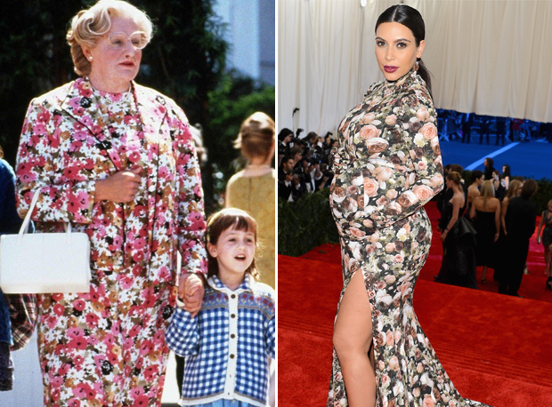 Kim Kardashian's Met Gala Gown Compared to Mrs. Doubtfire — OUCH!