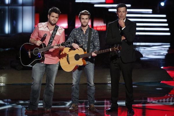 """The Swon Brothers Sing """"Seven Bridges Road"""" on The Voice 2013 Live Shows, May 27"""
