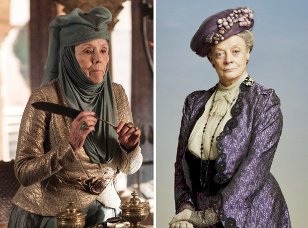 Are Game of Thrones' Lady Olenna Tyrell and Downton Abbey's Dowager Countess the Same Person?