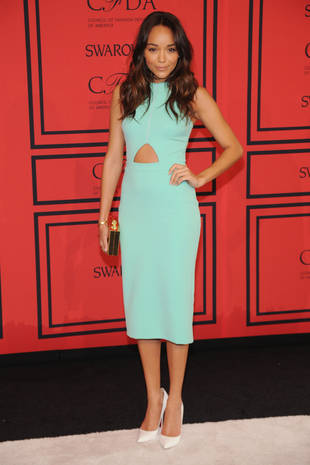 Revenge's Ashley Madekwe Stuns at 2013 CFDA Awards in Mint Dress (PHOTO)
