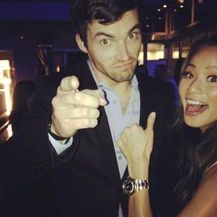 Pretty Little Liars' Ian Harding Cozied Up to Which TV Starlet? (PHOTO)