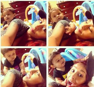 Snooki and Lorenzo's Adorable Play Time: Baby Guido Attack! (PHOTO)