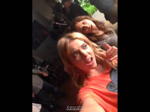 Ashley Benson and Troian Bellisario Twerk It Out With Mrs. Hastings on Set! (VIDEO)