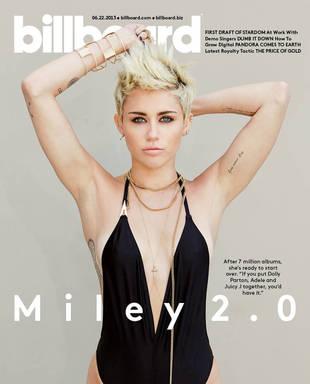 "Miley Cyrus Shows Off Bod in Plunging Swimsuit, Denies Being ""White Nicki Minaj"" (PHOTO)"