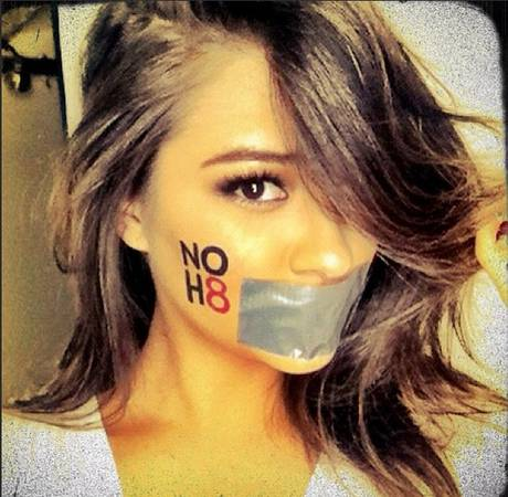 Pretty Little Liars' Shay Mitchell Celebrates DOMA's Demise With NOH8 Fan Art (PHOTO)