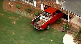 Toddler Drives Pickup Truck Into Neighbors' House