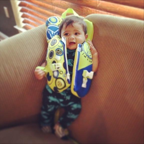 Snooki's Baby, Lorenzo, Tries on His First Lifejacket — Adorable Alert! (PHOTO)