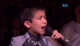 11-Year-Old Sebastien De La Cruz Belts Out an Impressive National Anthem! (VIDEO)
