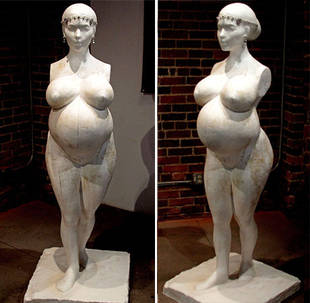 Nude, Pregnant Kim Kardashian: See The Controversial New Statue (VIDEO)