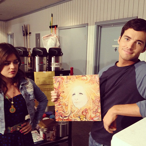 Pretty Little Liars' Lucy Hale and Ian Harding Get Flirty Over a Coffee (VIDEO)