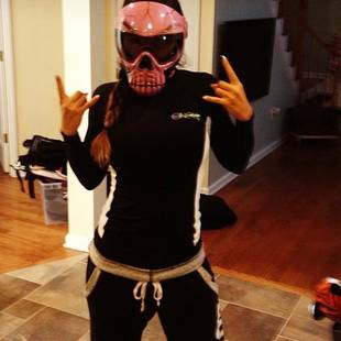 JWOWW's Wears Terrifying Mask and Crazy Jet Skiing Outfit — Weird or Cool? (PHOTO)