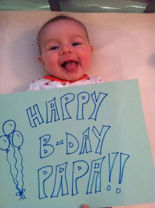 Jason and Molly Mesnick's Baby Girl Wishes Her Papa Happy Birthday!