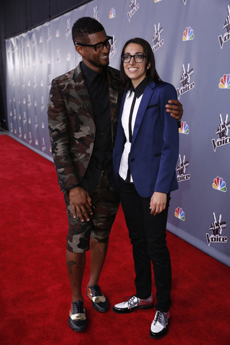 Usher and Michelle Chamuel React to Voice Results: Will He Help With Her Career? (VIDEO)