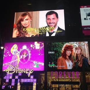 Maksim Chmerkovskiy and Karina Smirnoff Are Life-Sized in Times Square! (PHOTO)